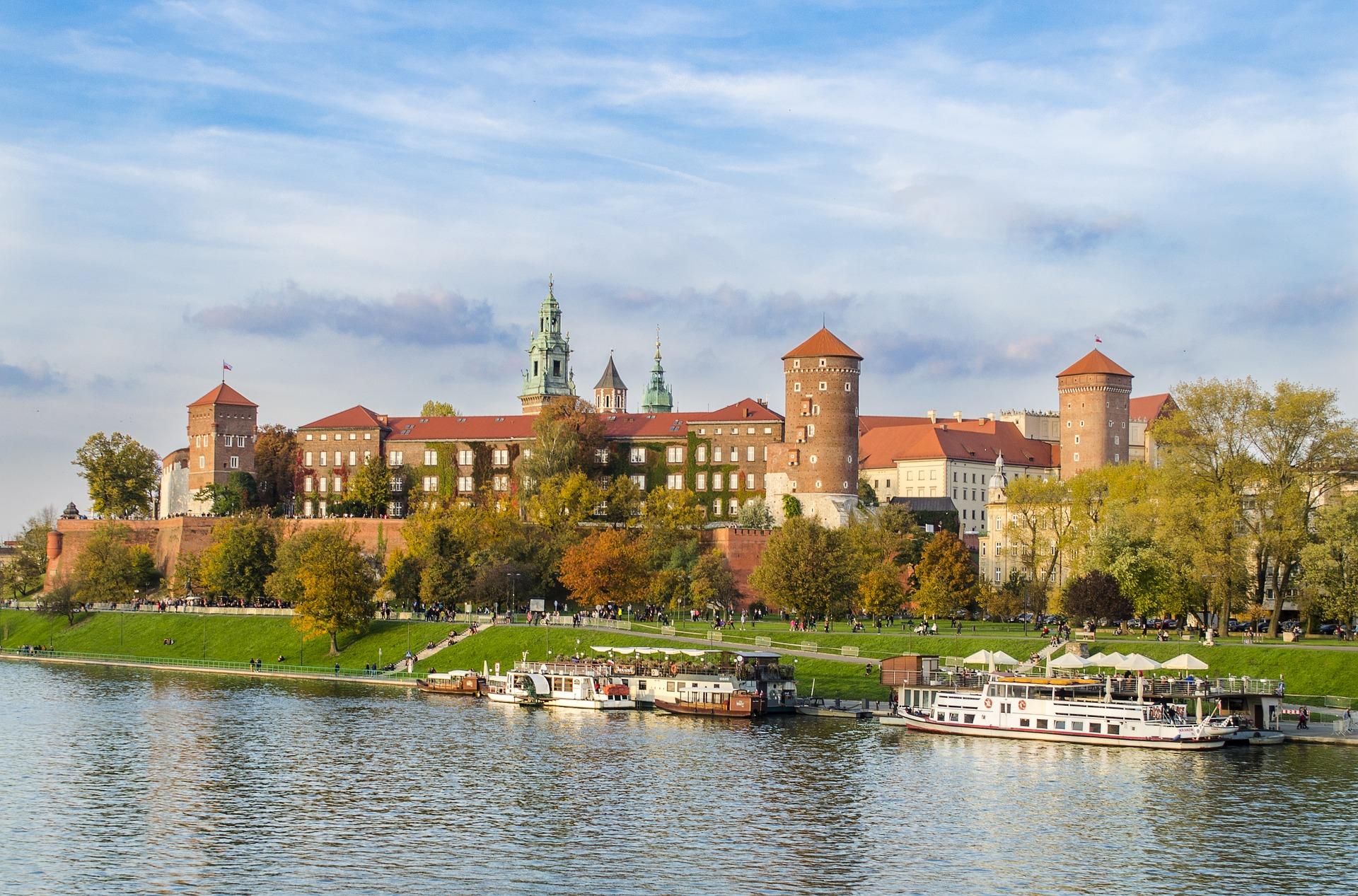Zamek w Krakowie przy Wiśle
