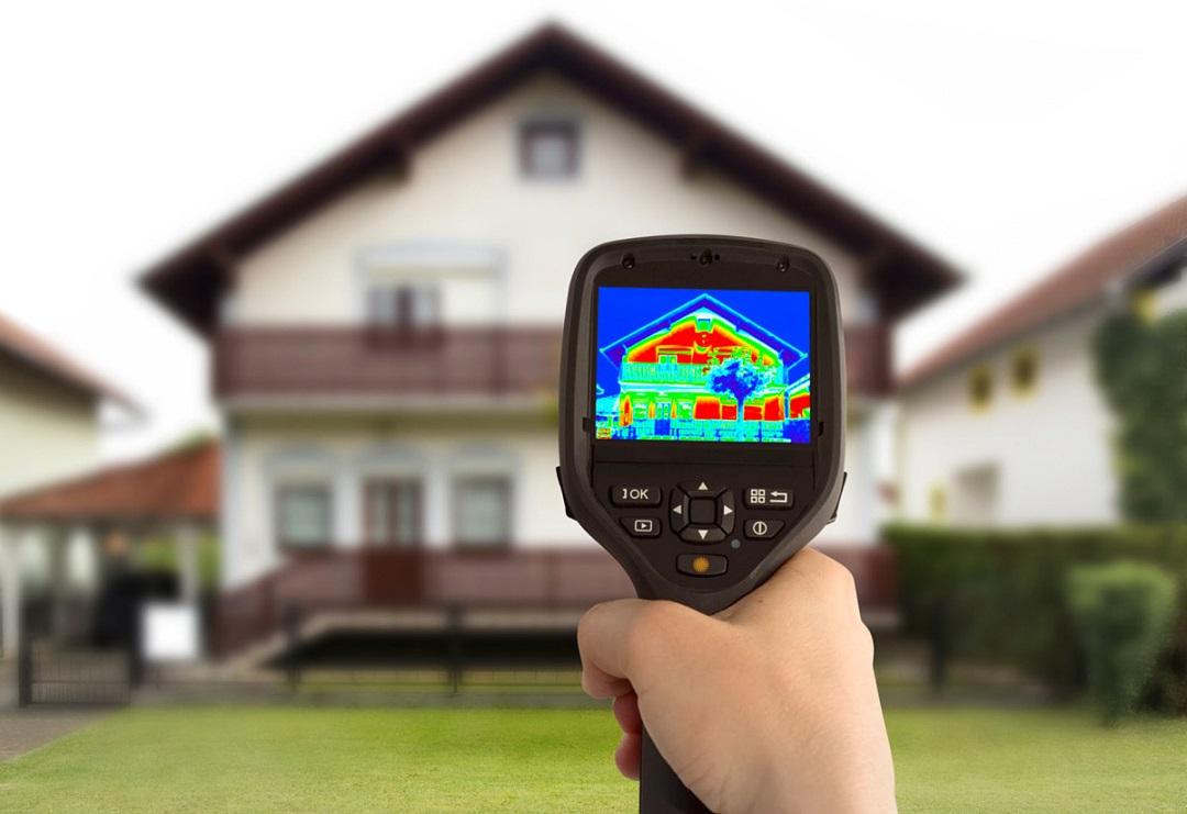 Termowizja ogrzewanego domu kotłem CO