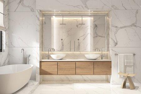 modne marmurowe płytki w łazience